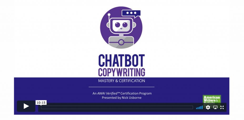 Chatbot Copywriting Mastery Brand - link to video