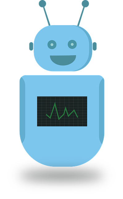 Graphic of a bot representing chatbots